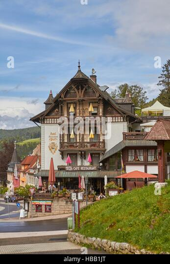 Black Forest: Old Hotel in Triberg - Stock-Bilder
