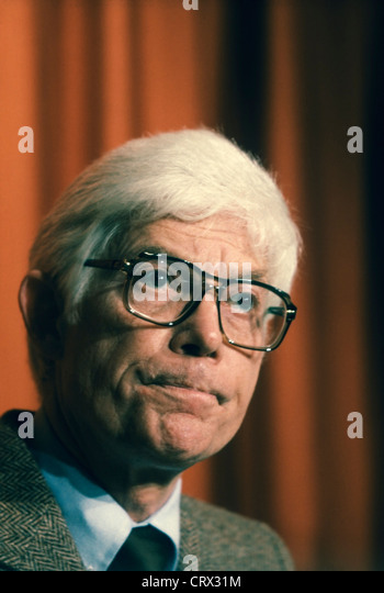 Independent Presidential candidate John Anderson (born 1922) speaking during the 1980 Conference of Mayors in Seattle, - Stock Image