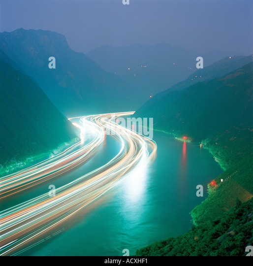 Yangtse river China - Stock Image