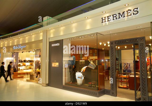 Bangkok Thailand Suvarnabhumi International Airport BKK terminal concourse gate area shopping retail display sale - Stock Image