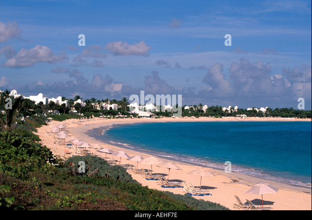 Anguilla Cap Juluca Resort Beach - Stock Image