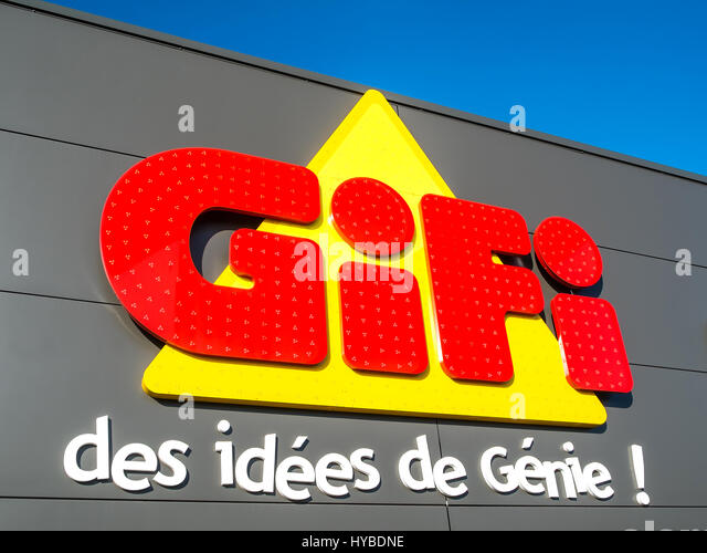 Gifi store sign, France. - Stock Image