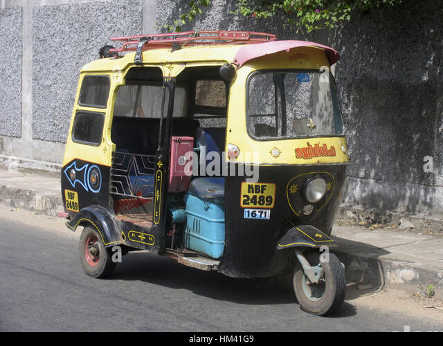Auto Rickshaw For Rent In Trivandrum: Kerala Cycle Rickshaw Stock Photos & Kerala Cycle Rickshaw