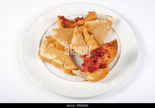 Food waste (breakfast toast) - Stock Image