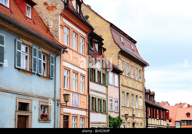 Row of traditional german buildings - Stock Image