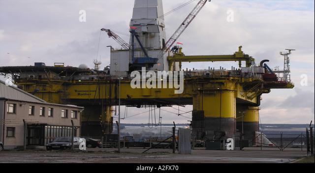 Docked Rig - Stock-Bilder