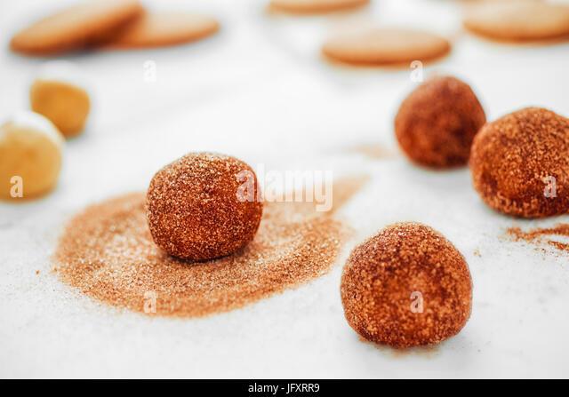snickerdoodle cookie dough - Stock Image