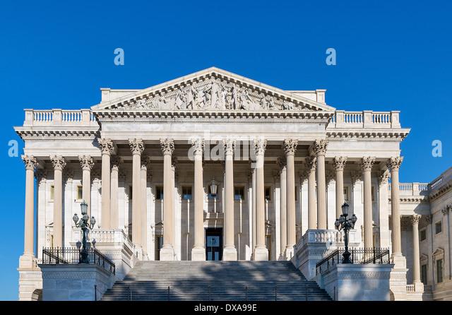 House of Representatives chamber, The United States Capitol Building, Washington D.C., USA - Stock Image