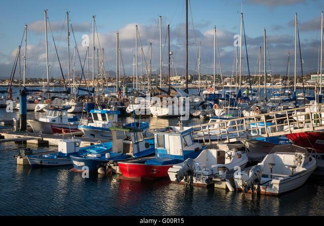 Marina Corralejo Fuerteventura Canary Islands Spain - Stock-Bilder