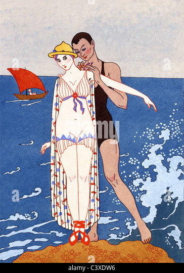 The small island, by Georges Barbier. France, early 20th century - Stock-Bilder