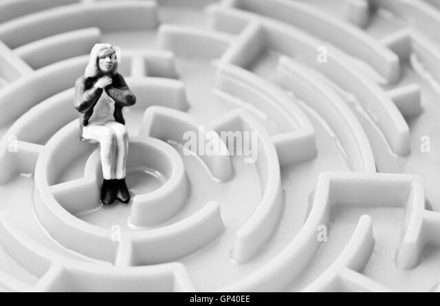 psychology and solitude concept - Stock Image