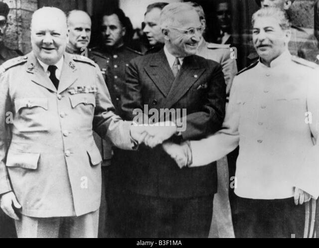 Potsdam Conference. - Stock Image