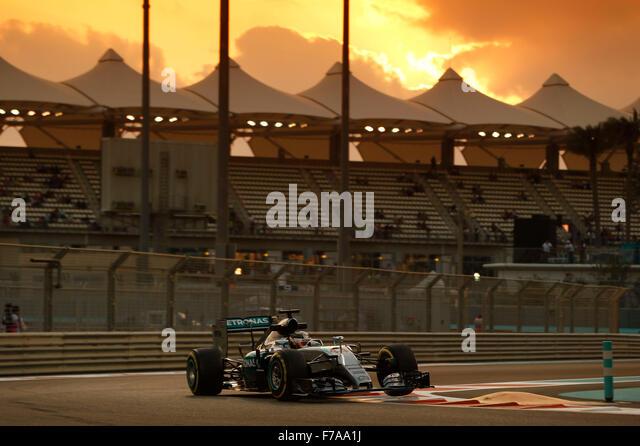 Abu Dhabi. 27th November, 2015. Motorsports: FIA Formula One World Championship 2015, Grand Prix of Abu Dhabi, #44 - Stock-Bilder