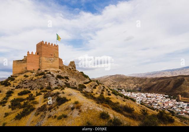 Moorish Castle Almeria Andalusia Spain Stock Photos & Moorish Castle Alme...
