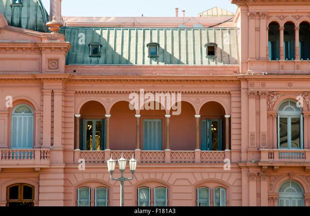 Presidential Pink House (Casa Rosada) - Buenos Aires - Argentina - Stock Image