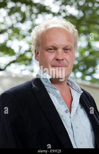 Patrick McGuinness, poet and novelist, at the Edinburgh International Book Festival 2014. Edinburgh, Scotland. 19th - Stock Image