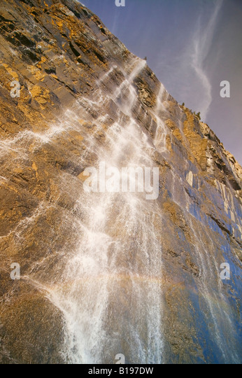 The Weeping Wall, Banff National Park, Alberta, Canada - Stock Image