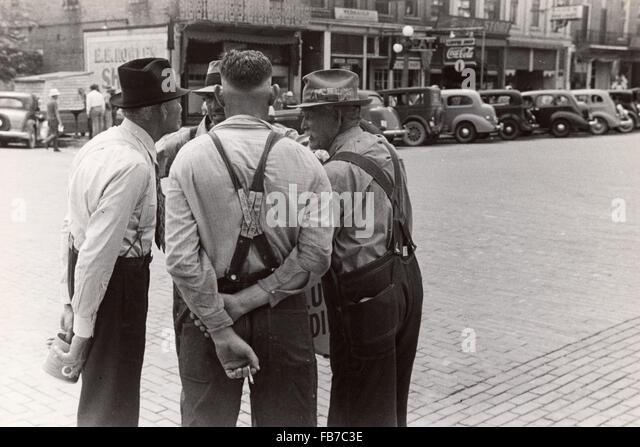 Street scene, Washington Court House, Ohio, America in the 1930's - Stock Image