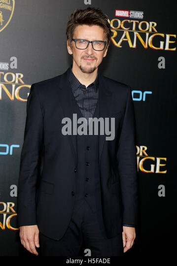 Hollywood, USA. 20th Oct, 2016. Scott Derrickson at the World premiere of 'Doctor Strange' held at the El - Stock Image