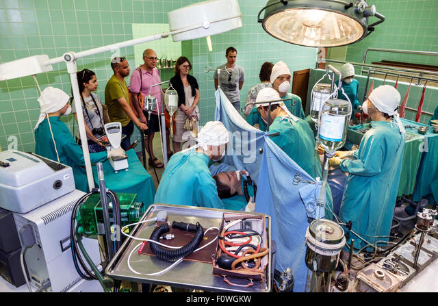South Africa African Cape Town Salt River Groote Schuur Hospital Heart of Cape Town Museum operating room re-enactment - Stock Image