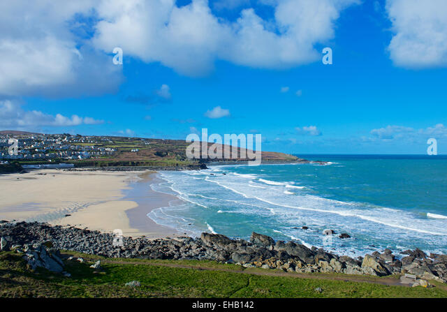 Beach at Newquay, Cornwall, England UK - Stock Image