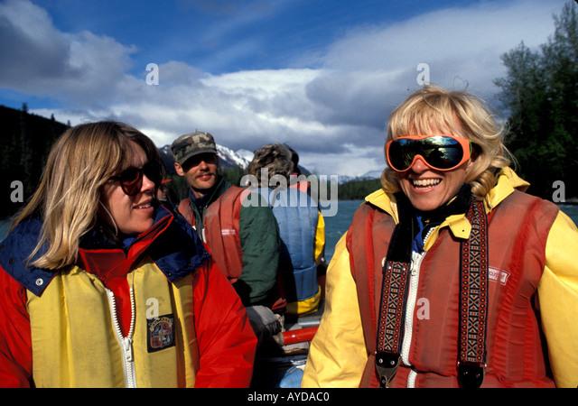 Alaska rafting Kenai River - Stock Image