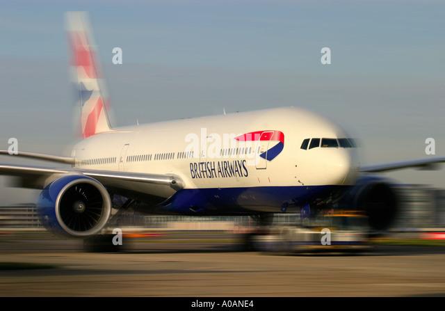 British Airways Boeing 777 236 ER London Heathrow UK - Stock Image