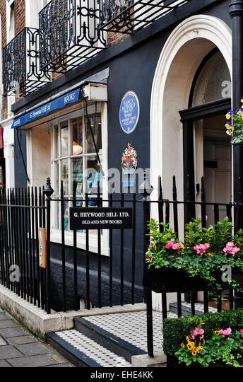 Heywood Hill Ltd. Antiquarian Book shop; 10 Curzon Street; Mayfair; London; England; UK; Europe - Stock-Bilder