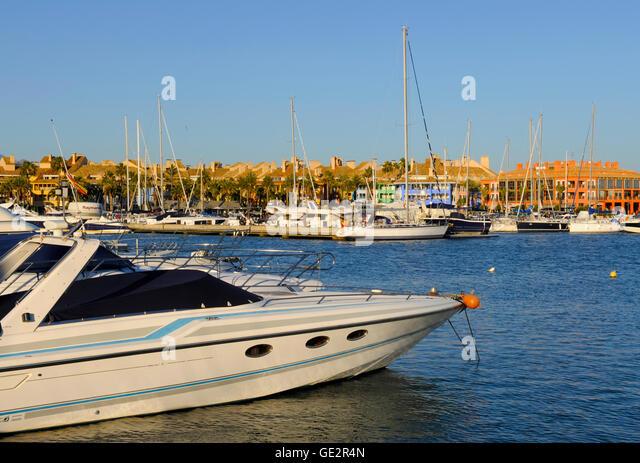 Sotogrande Marina Spain luxury living in Andalucia, Spain - Stock Image