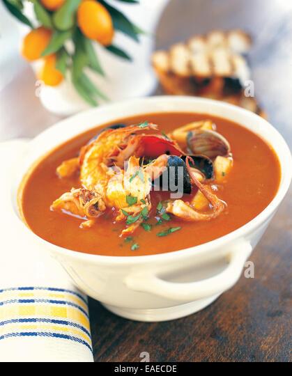 Seafood Soup - Stock-Bilder