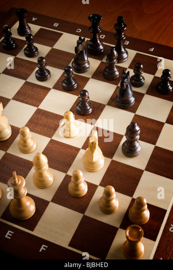 game of chess - Stock Image