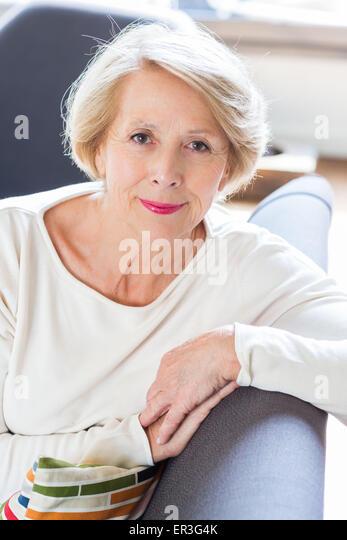 Senior woman portrait. - Stock Image