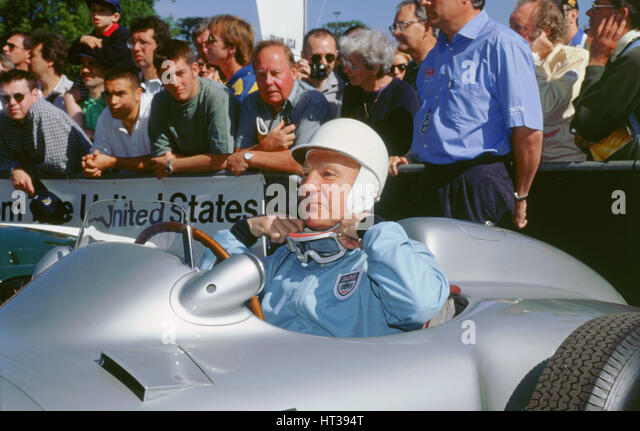 Stirling Moss prepares for the off. Goodwood festival of speed. Artist: Unknown. - Stock Image