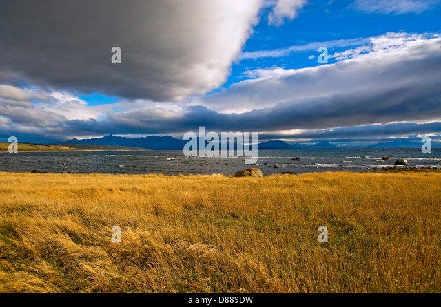 Chilean Patagonia near Puerto Natales - Stock Image