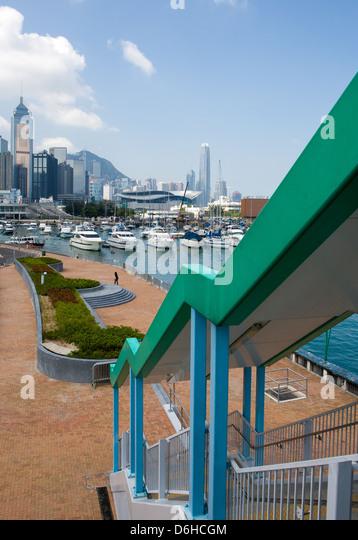 Hong Kong, the Causeway Bay Harbor - Stock Image