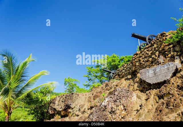 Ruins of Fort Warwick in San Andres y Providencia, Colombia - Stock Image