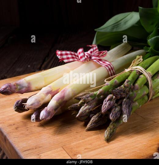 Asparagus bundle - Stock Image
