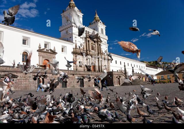 Plaza San Fransisco, Quito, Ecuador - Stock Image