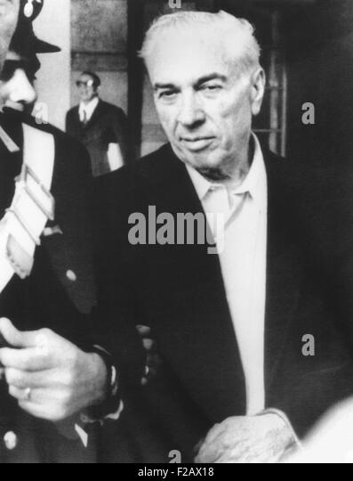 Joe Adonis was arrested May 22, 1971 and held under 'preventive detention' in Italy. He lived luxuriously - Stock Image