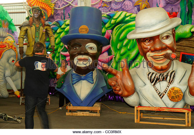 New Orleans Louisiana Port of New Orleans Blaine Kern's Mardi Gras World attraction carnival exhibit design - Stock Image