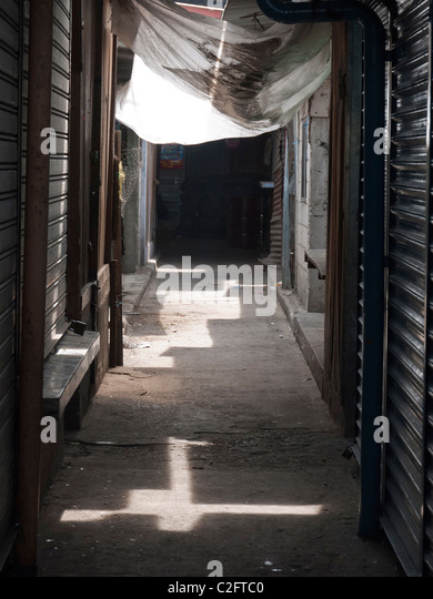 Detail of buildings in the Spanish colonial city of Antigua, Guatemala. - Stock Image