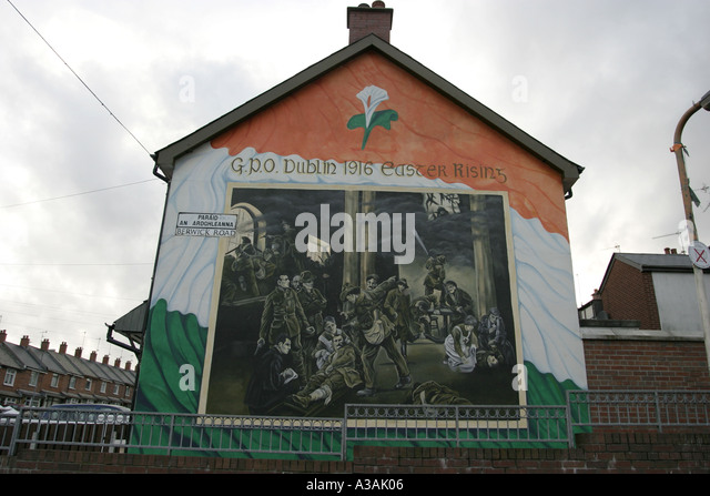 Easter rising gpo stock photos easter rising gpo stock for Dublin wall mural