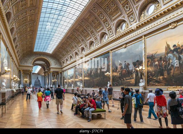 The Gallery of Battles(Galerie des Batailles), Chateau de Versailles (Palace of Versailles), near Paris, France - Stock Image