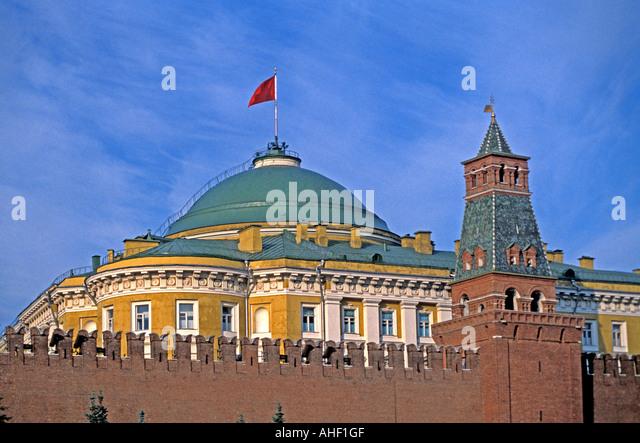 Moscow Russia Grand Kremlin Palace Kremlin Wall - Stock Image
