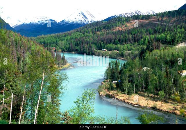 Alaska Kenai Peninsula Kenai River - Stock Image