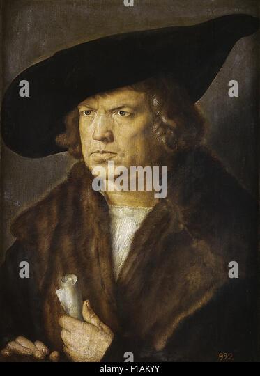 Albrecht Dürer - Portrait of an Unknown Man - Stock Image