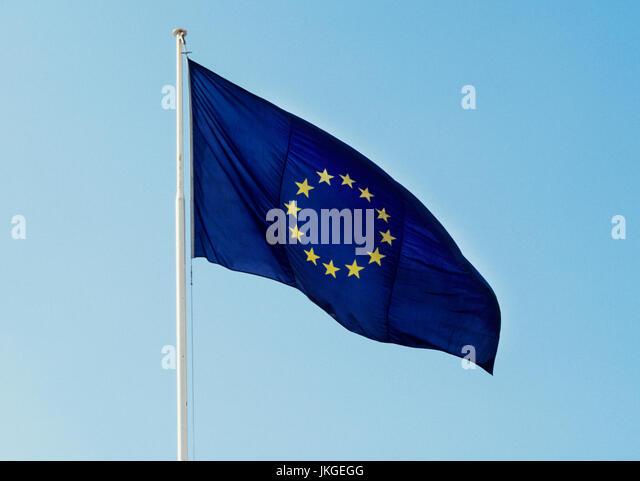 EU FLAG 2004 - Stock Image