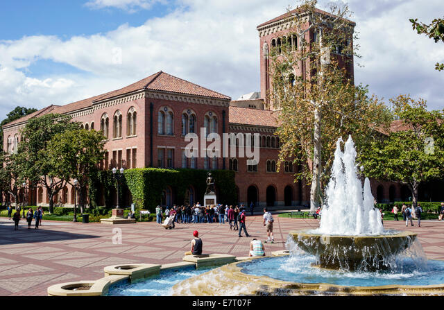 California CA Los Angeles L.A. Downtown LA USC University of Southern California university college campus higher - Stock Image