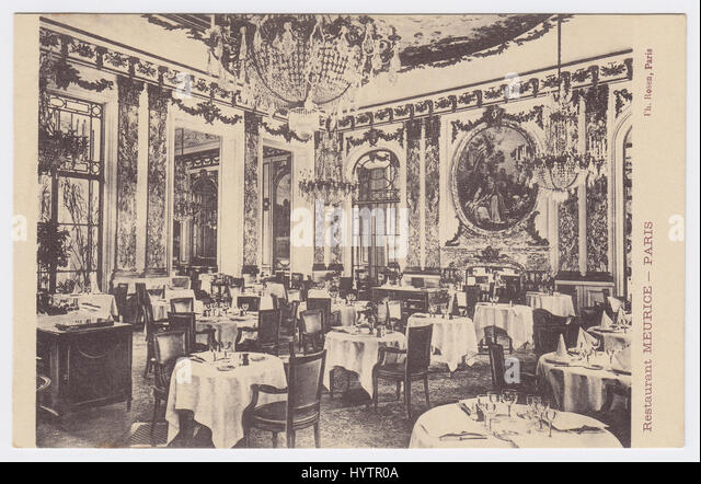 Hotel Meurice, Paris, France, Restaurant - Stock Image