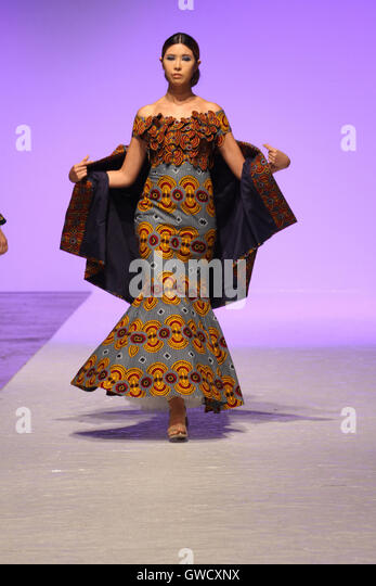 LONDON, UK - September 10: Catherine-Monique  is showcased at the Africa Fashion Week London. © David Mbiyu/Alamy - Stock Image